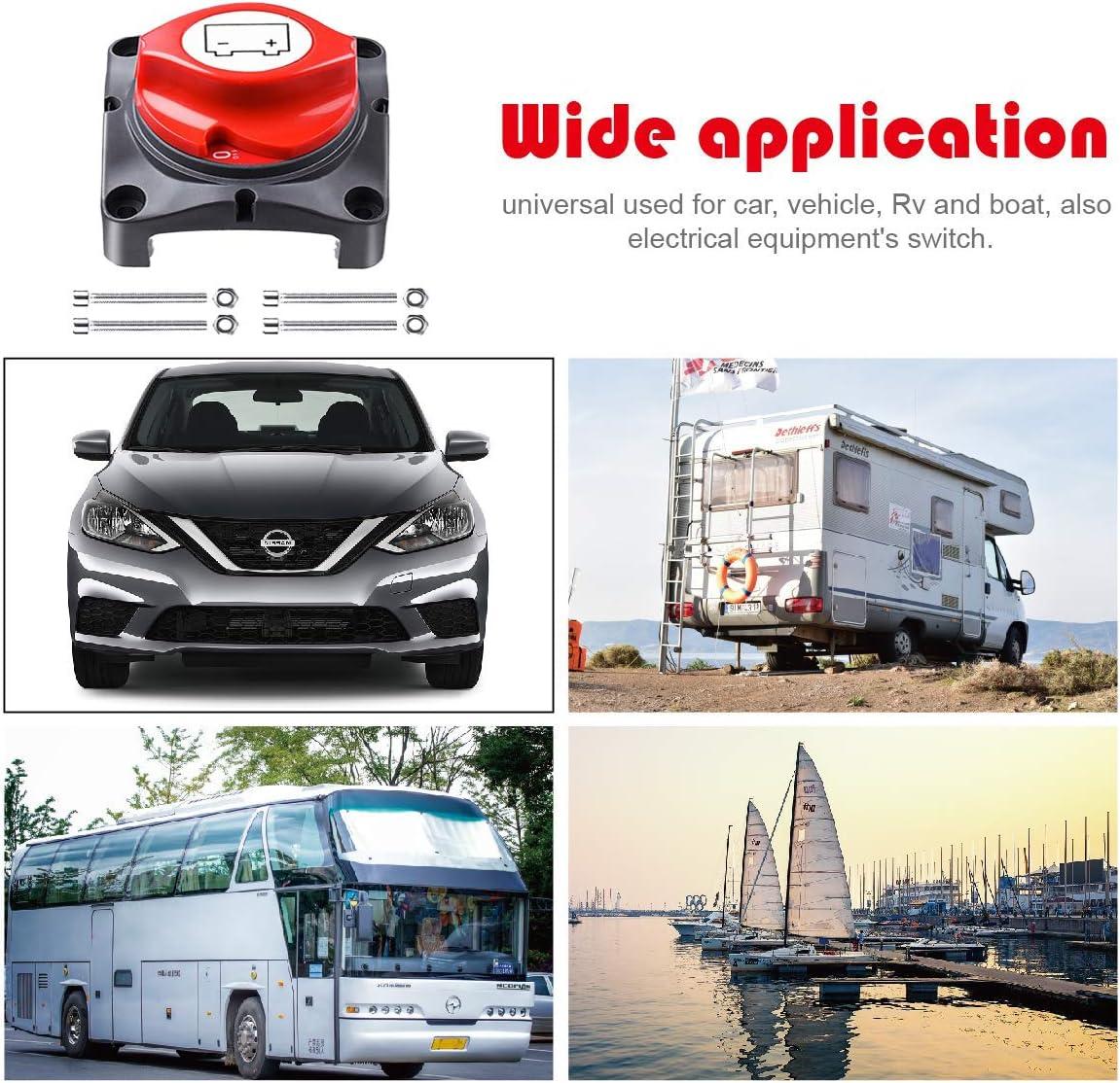 Power Master Trennschalter f/ür Boot kleine Yacht Wohnmobil NStart 12-48 V Batterie-Trennschalter Batterieschalter Cut//Shut Off Batterieschalter UTV ATV Auto Wohnmobil