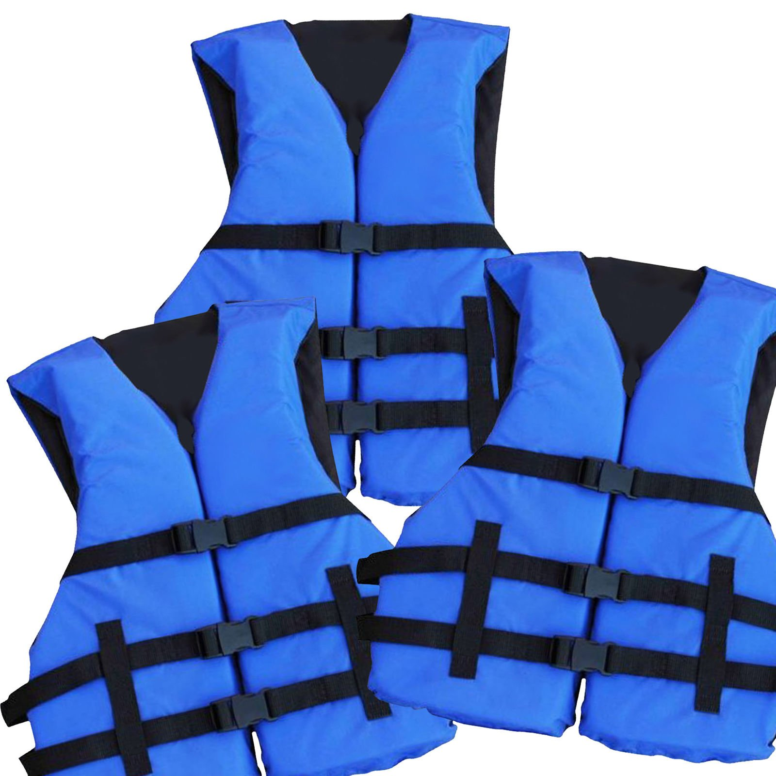 Hardcore Water Sports 3 Pack Adult Life Jacket PFD USCG Type III Universal Boating Ski Vest New by Hardcore Water Sports