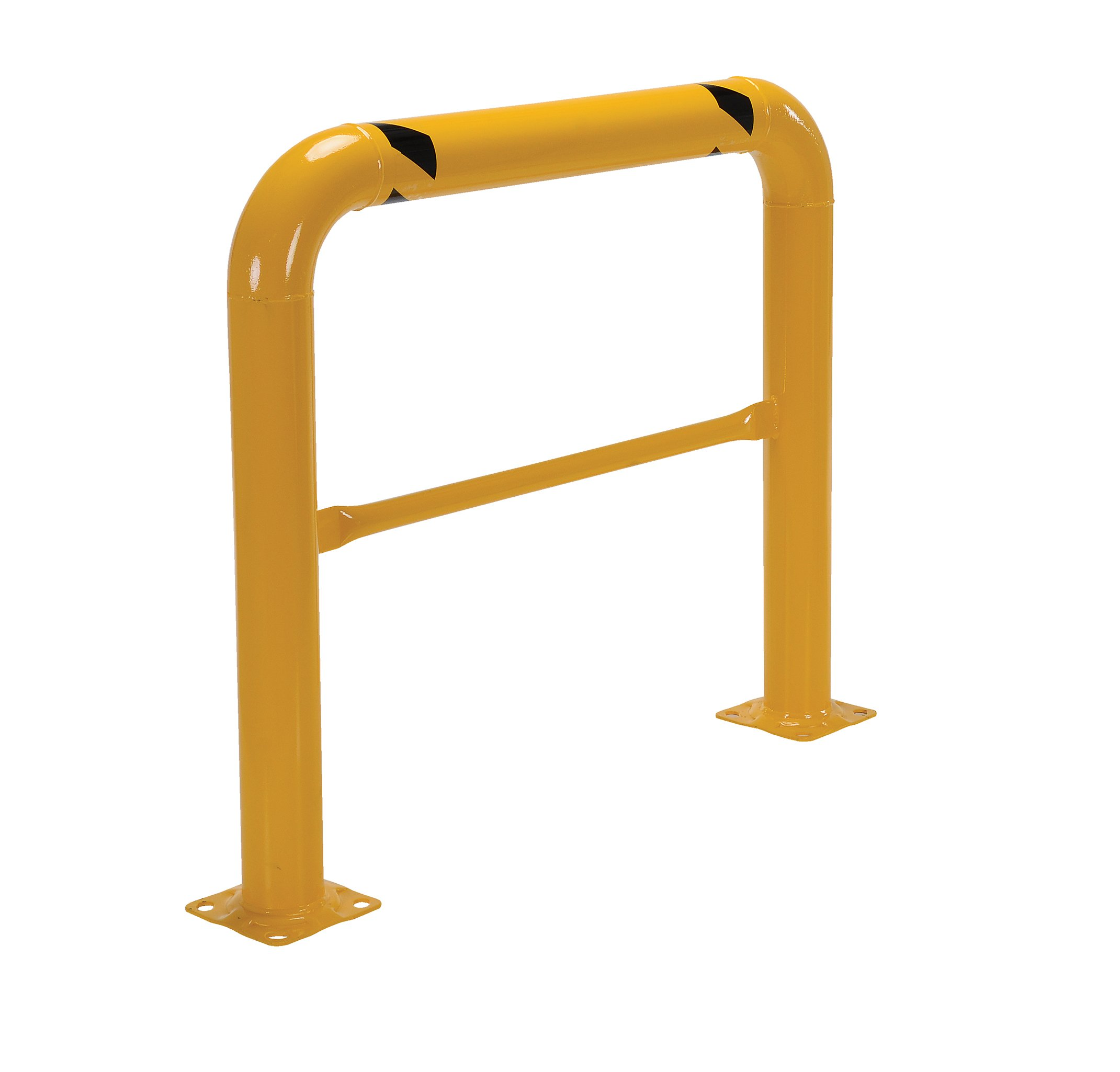 Vestil HPRO-48-42-4 Yellow Powder Coat High Profile Machinery Guard, Welded Steel, 4-1/2'' OD, 48'' Length, 42'' Height