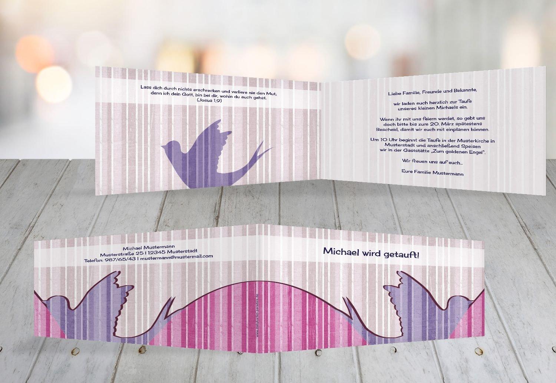 Kartenparadies Einladungskarte Taufeinladung Taufkarte Streifenharmonie, hochwertige Einladung zur Taufe inklusive Umschläge   100 Karten - (Format  215x105 mm) Farbe  OckerBeige B01MRBYNTT | Roman  | Wirtschaft  | Große Ausverkauf