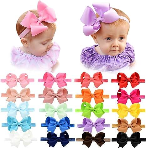Cute Baby Girls Toddler Newborn Big Headband Headwear Hair Bow Accessories HU