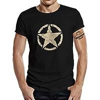 Camiseta clásica para los fans del ejército estadounidense: Vintage Star negro