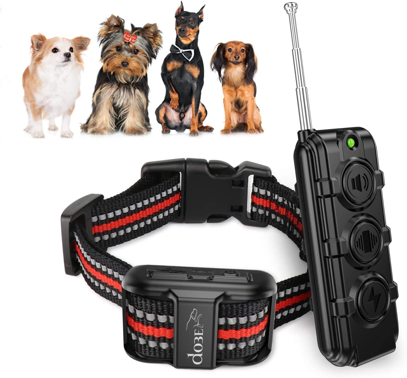 Dobe Dog Training Collar for Puppy Small Dog Waterproof Rechargeable Electric Dog Shock Collar with Remote with 3 Training Mode Beep, Vibration, Safe Shock for Small Medium Dogs