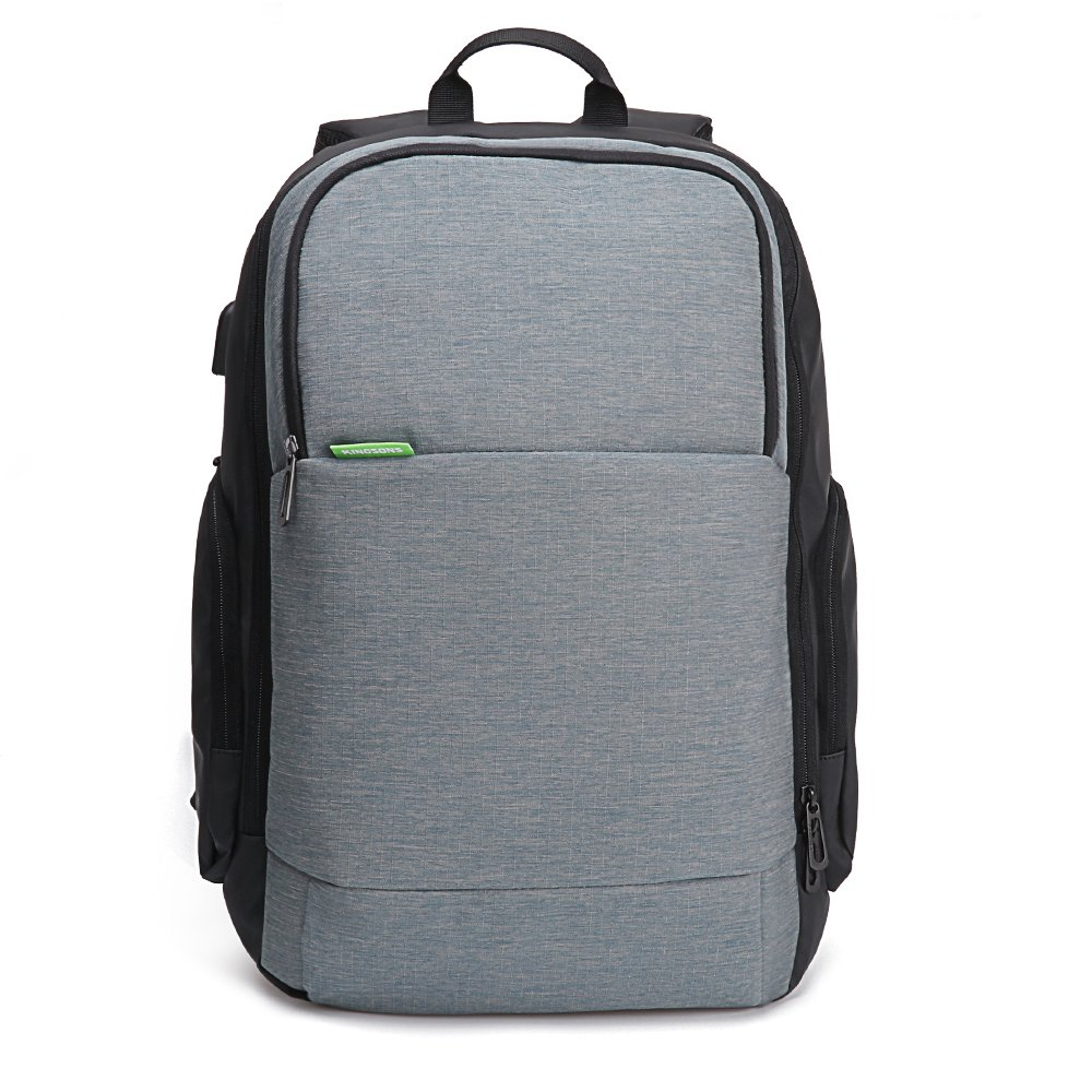 USB Charge Laptop Backpack,MultipurposeAnti-Theft Durable Travel Hiking Sports School Bags, 15.6 inch Laptop Bag,Casual Daypack, Business,Outdoor Rucksack (Grey) by iCozzier (Image #2)