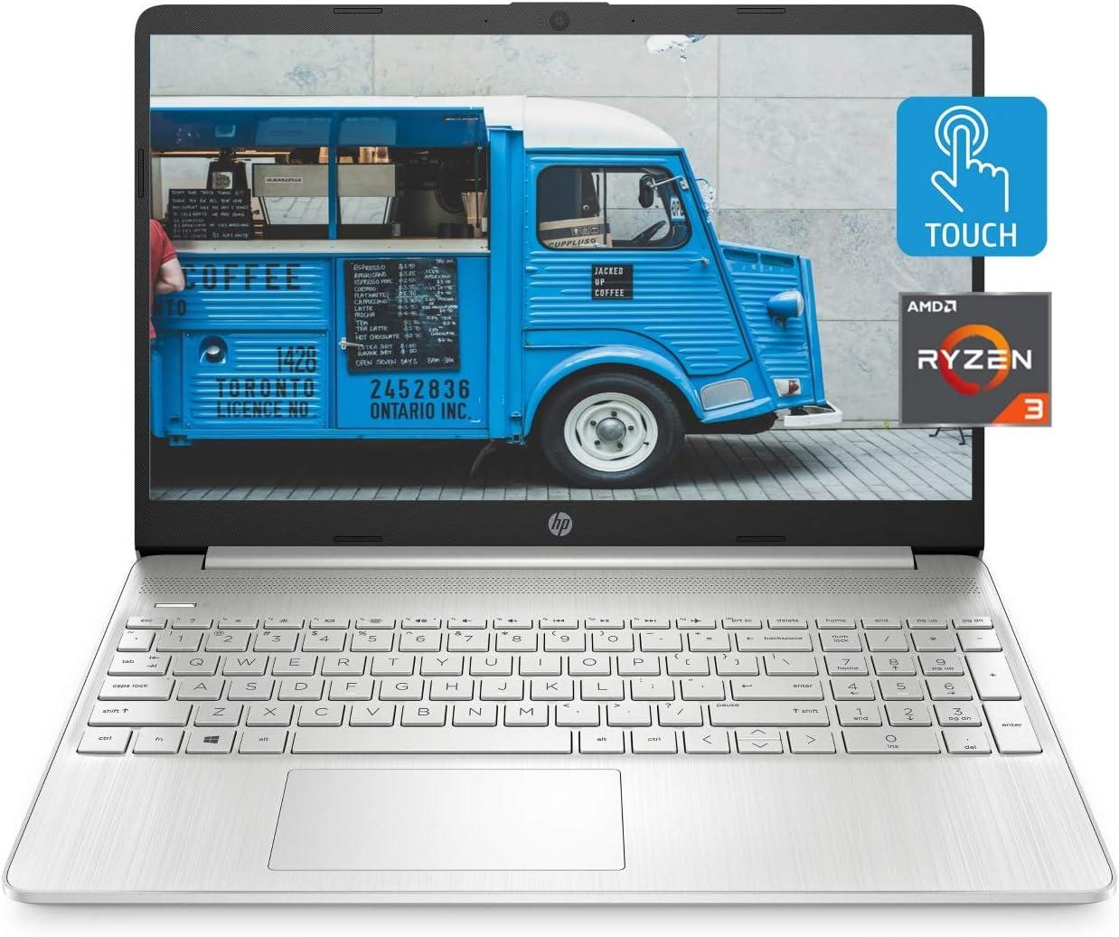 HP 15 Laptop, AMD Ryzen 3 3250U Processor, 8 GB RAM, 256 GB SSD Storage, 15.6-inch HD Micro-Edge Display, Windows 10 Home, Long-Lasting Battery, HP Fast Charge, 720p Webcam (15-ef1021nr, 2020)
