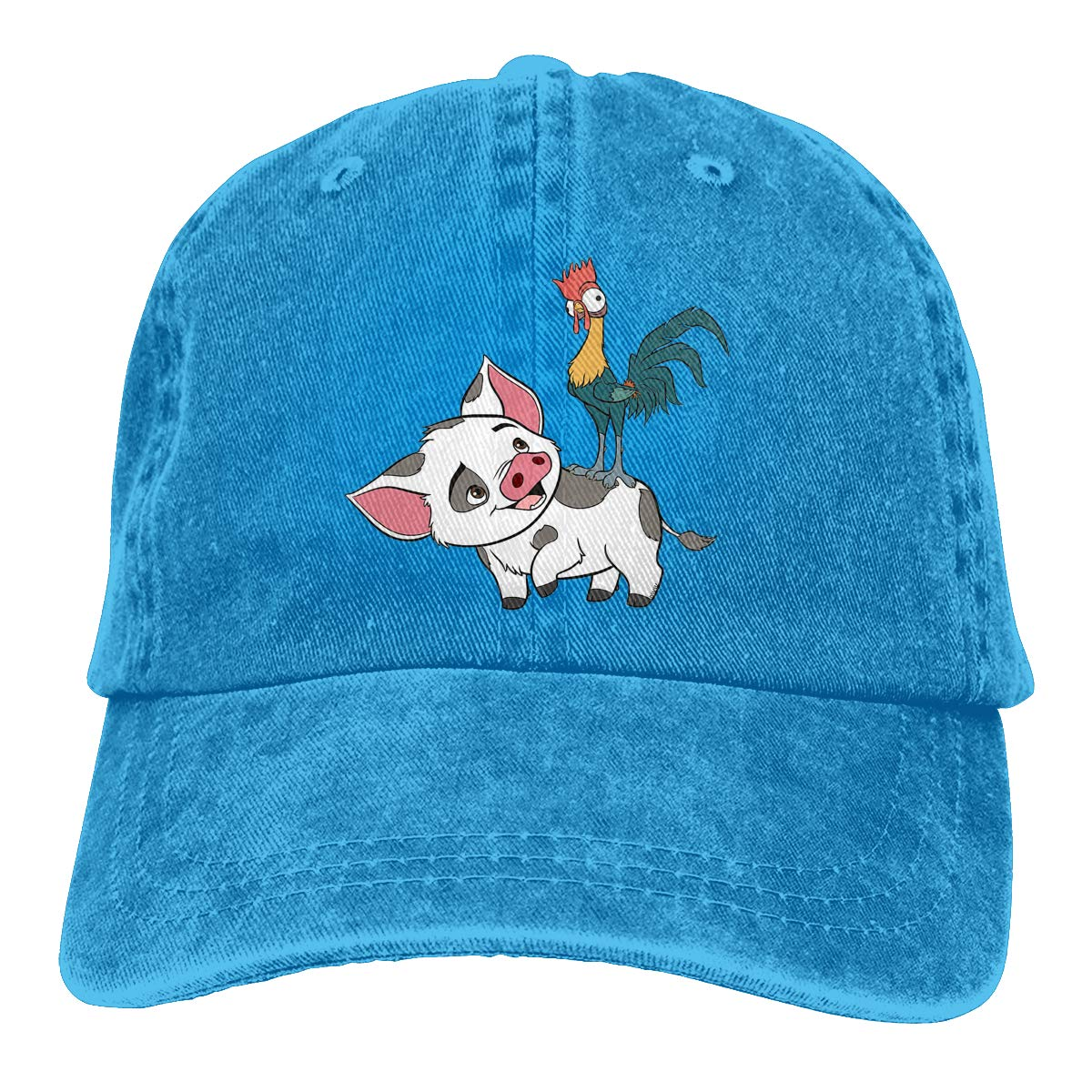 Unisex Moana Pua and Chicken Vintage Washed Dad Hat Cute Adjustable Baseball Cap