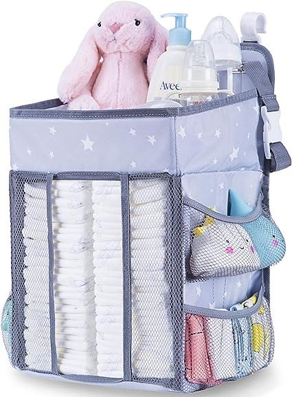 Baby Cot Bed Hanging Nappy Bottle Organizer Storage Bag Cradle Crib Diaper Bag