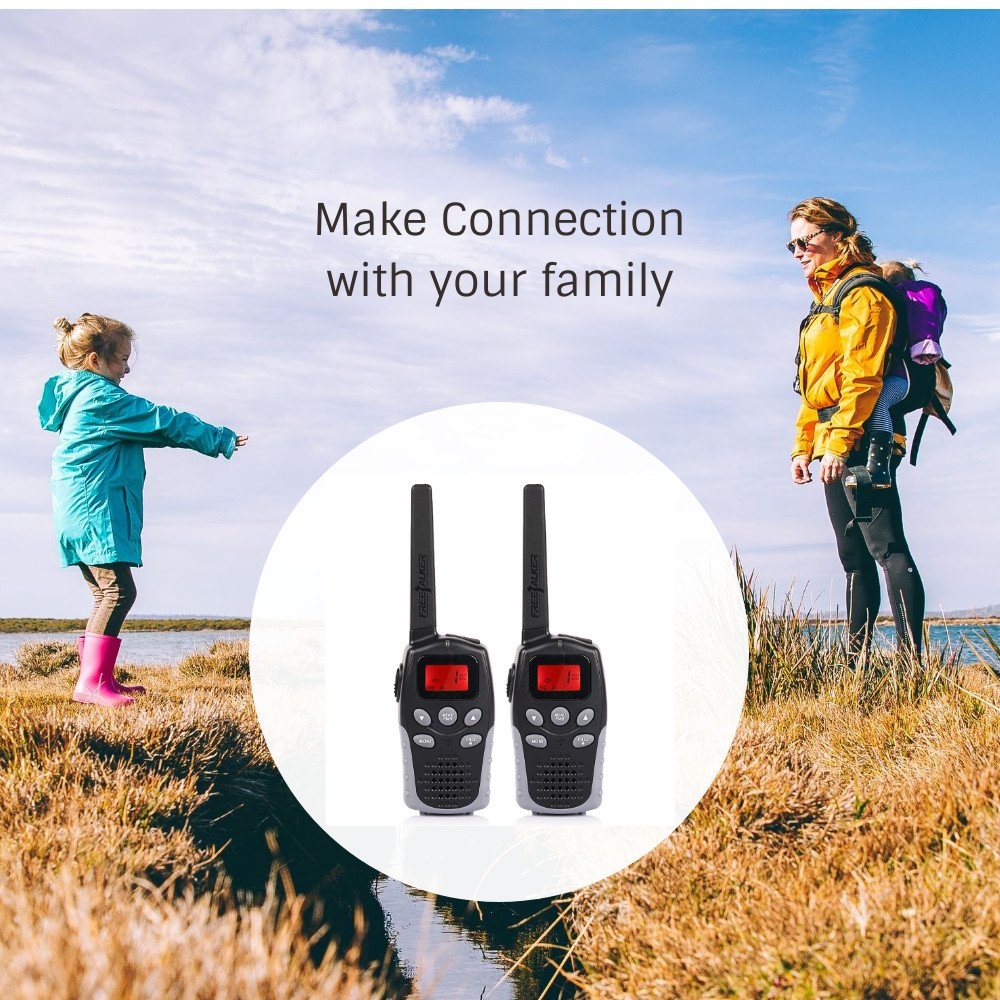 2 Pack JAJA JJ-310 Mini Walkie Talkies for Kids Adult Gift Toy FRS Two Way Radios Long Range for Boys Girls 22 Channel 38 CTCSS 83 DCS VOX Keypad Lock