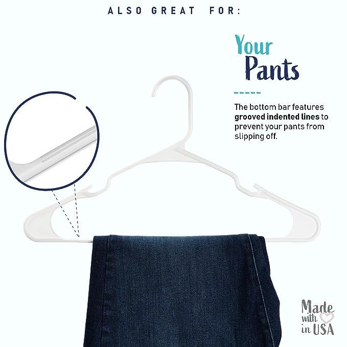 Amazon.com: Ganchos para ropa con muesca 18 (Negro) (9,38 x ...