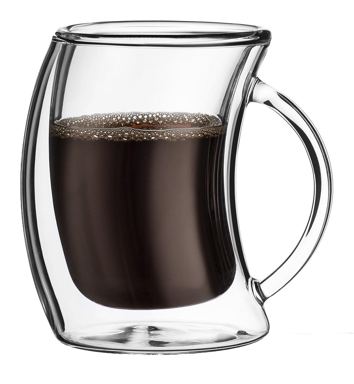 5.4-Ounces JoyJolt Caleo Double Wall Insulated Glasses Espresso Cups Set of 2