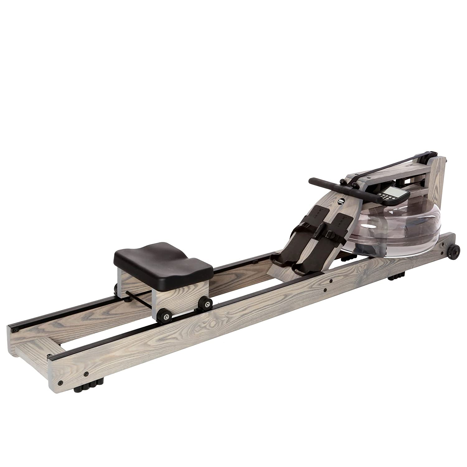 Water Rower Rowing Machine Driftwood with Patented Water Flywheel, S4 Monitor, and Adjustable Resistance Levels