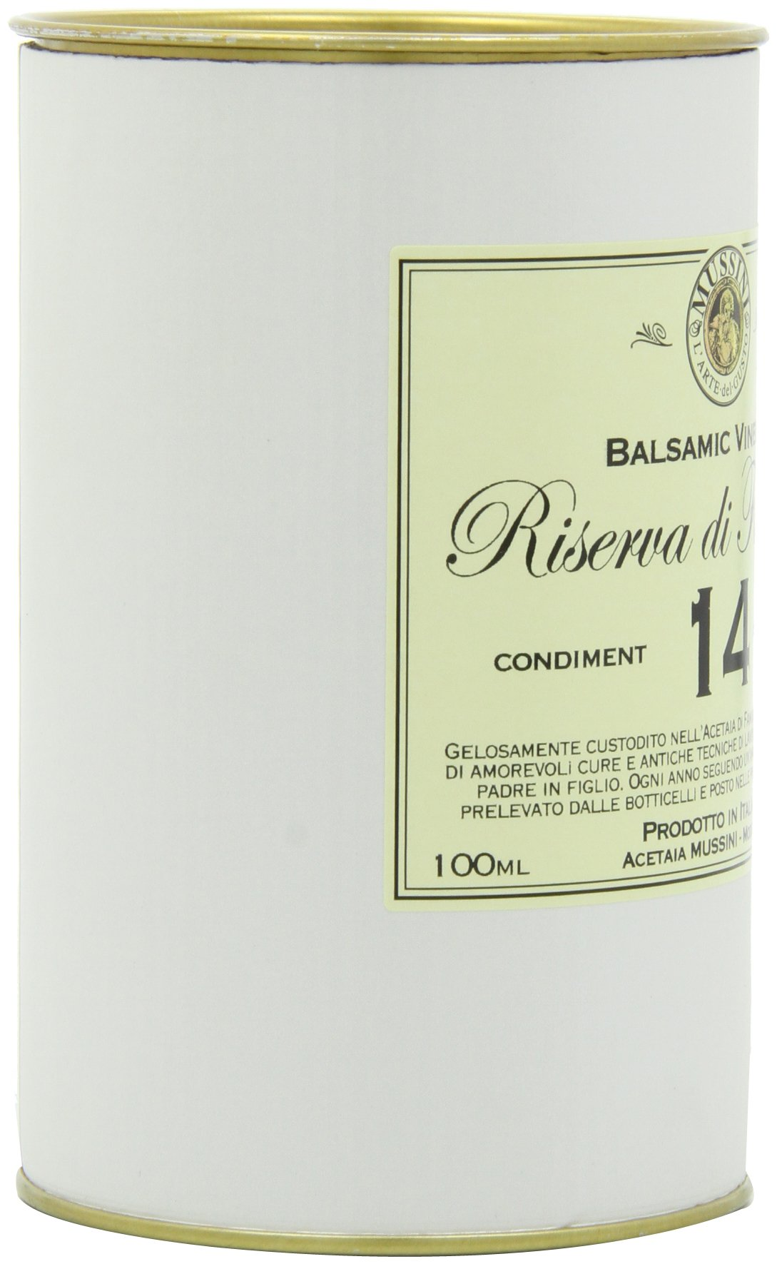 """Italian 14 year""""riserva di famiglia"""" balsamic vinegar, 3. 4 ounces 7 save money with pack sizes made in small batches produced by mussini in italy"""