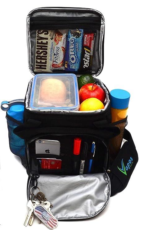 Amazon.com: Bolsa de almuerzo grande con aislamiento para ...