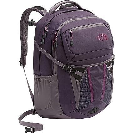 aa610ddc28a3 The North Face Women's Recon Backpack - Dark Eggplant Purple Dark Heather &  Rabbit Grey - OS