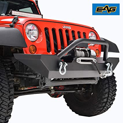Winch For Jeep >> Eag Jeep Wrangler Jk Rock Crawler Front Bumper With Winch Plate