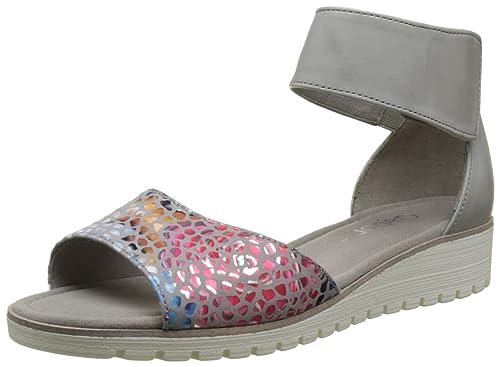 2626a6b4854 Gabor Shoes Women s Fashion Wedge Heels Sandals Grey (Stone Delfin 41) ...