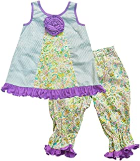 product image for Cheeky Banana Little Girls Aria Swing top & Knicker Bloomers Lavender