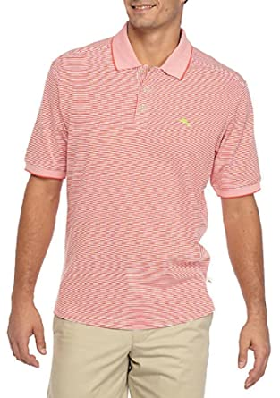 Tommy Bahama Stripe Emfielder Polo Golf Shirt (Color Fusion, Size L)