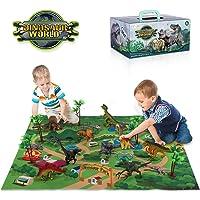 Deals on TEMI Dinosaur Toy Figure w/ Activity Play Mat & Trees