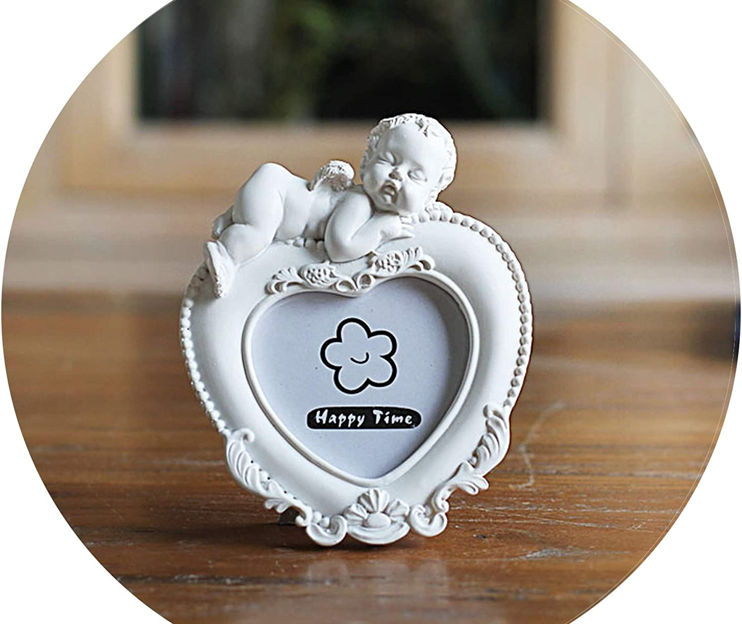 Resin Photo Frames for Pictures,2 Inch Kids Little Angle Decor Picture Frame,White Photo Frames,Cadre Photo Moderne,Ax in Type,2 inch
