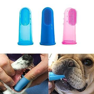 Tpocean Cepillo de Dientes de Dedo para Mascotas, Limpieza de Dientes, Cuidado Dental para Perros, Gatos: Amazon.es: Productos para mascotas