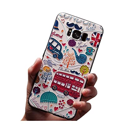 Amazon.com: 3D Flower Emboss Case for Samsung Galaxy S8 S9 ...