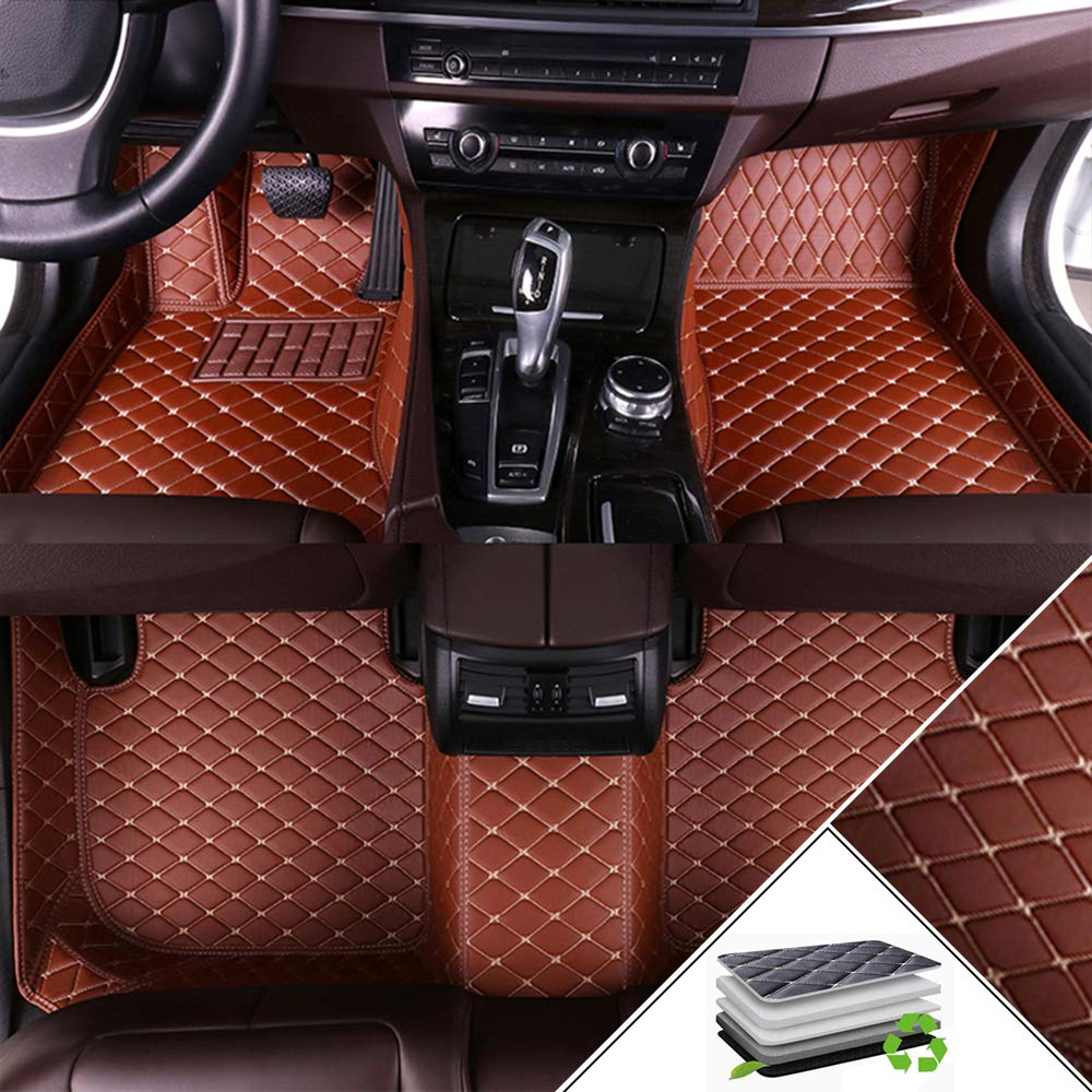 Custom Car Floor Mats for Toyota Highlander Ⅲ 2015-2019 7-Seats All Weather Waterproof Non-Slip Full Covered Protection Advanced Performance Liners Car Liner Gray