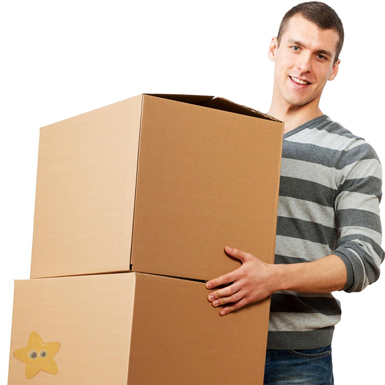Cajas de cartón para mudanza, tamaño XL, 457 x 457 x 457 mm, caja de embalaje de mudanza con papel de burbujas pequeño y 1 cinta: Amazon.es: Industria, empresas y ciencia