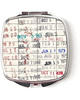 Library Due Date Card Compact Purse Mirror