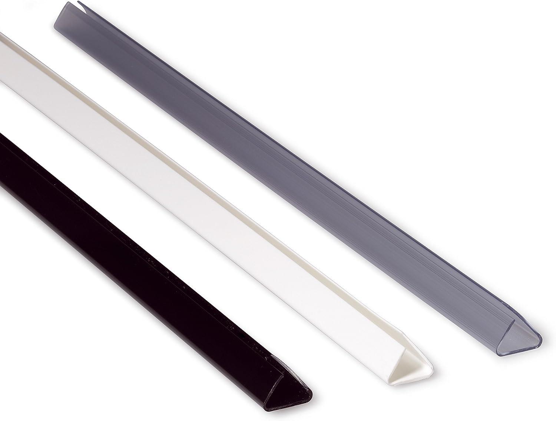 DURABLE Klemmschienen A4 transparent 9mm 25 Stück