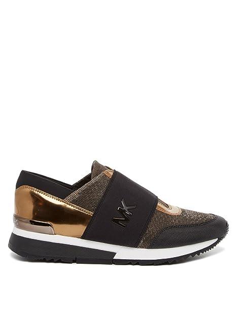 MICHAEL by Michael Kors Zapatos MK Zapatillas Bronce y Negro Mujer 38.5  Negro Bronze  Amazon.es  Zapatos y complementos d95e93e7c6b