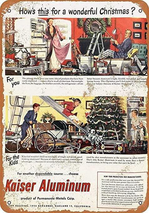 DGBELL Aluminum Christmas Toys Cartel de Pared de Chapa ...