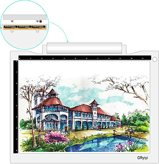 Streaming Sketching Weeding Vinyl Benote A4 Light Box for Tracing LED Light Pad Stenciling 3 Level Adjustable Brightness Light Board for Diamond Painting Animation