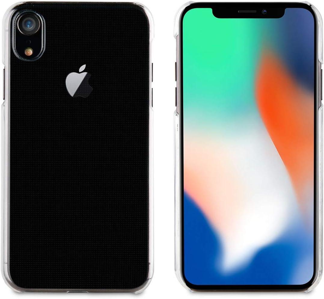 Muvit Cristal - Pack de Funda para Apple iPhone XR y Protector Pantalla (Vidrio Templado Plano) Transparente: Amazon.es: Electrónica