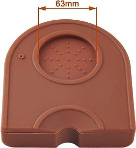 Silicone Coffee Tamper Mat, Espresso Silicone Mat, Espresso Tamper Mat, Coffee Tamp Mat, Small-Brown