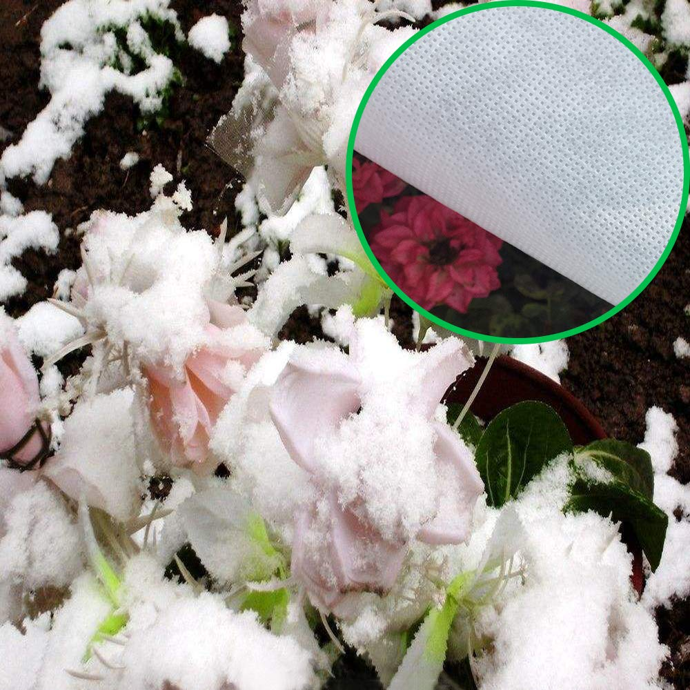 HGmart Heavy Floating Row Cover Garden Fabric Plant Cover Outdoor Frost Protection Blanket for Winter Frost Cold 0.9oz,14/×50,White