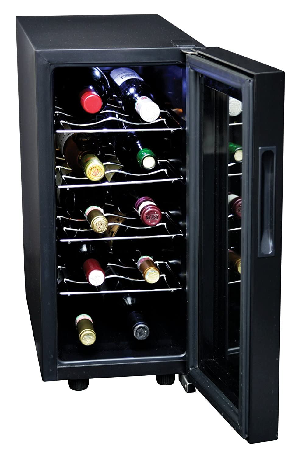Koolatron KWT10B 10-Bottle Digital Temperature Control Wine Cellar, Black Lentek