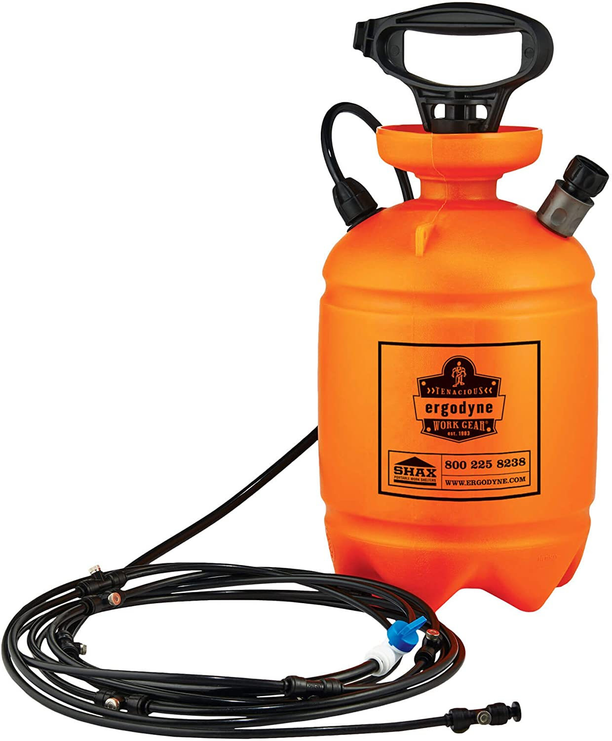 Portable Outdoor Misting System, Includes Straps to Attach to Tent Canopies or Fences, Ergodyne Shax 6095