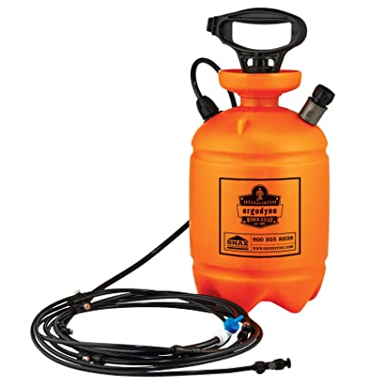 SHAX 6095 Portable Outdoor Shelter Misting System, 2 Gallon, Orange