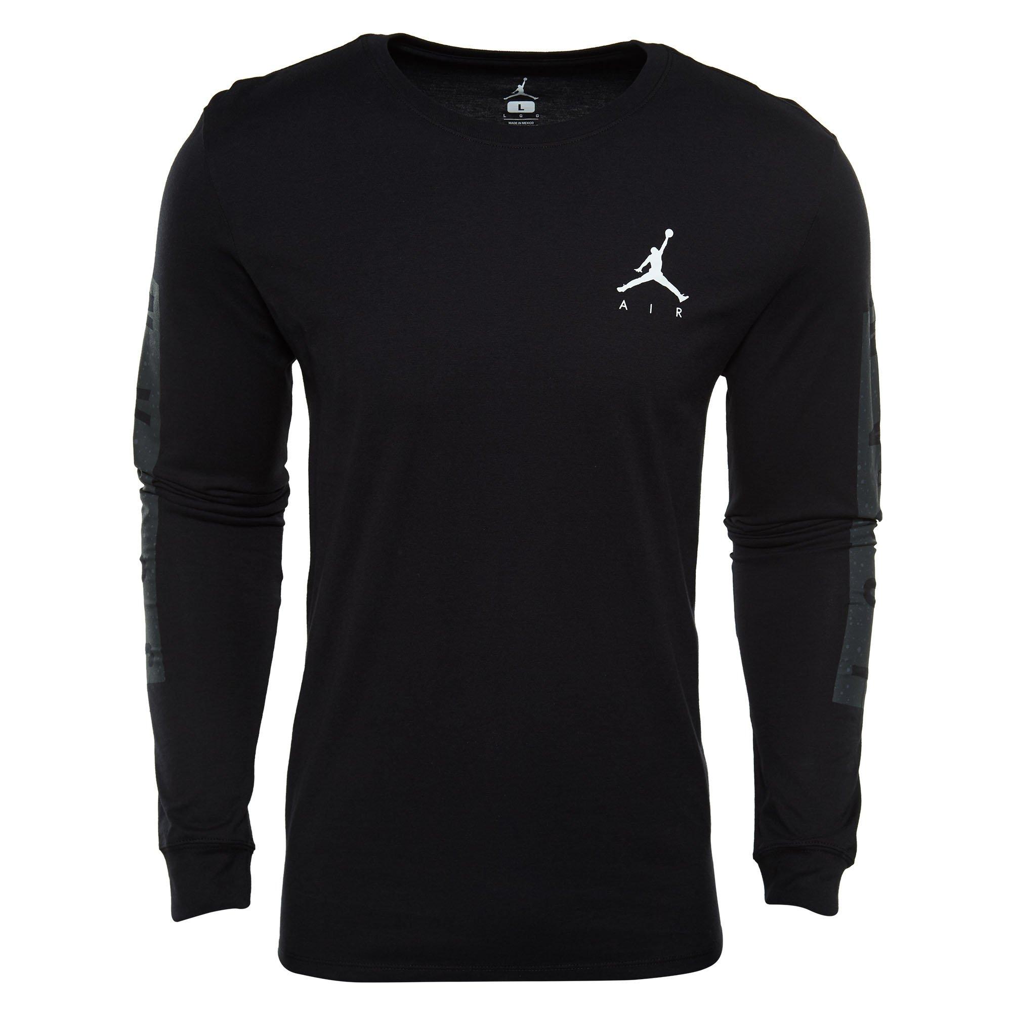 099b5169edd1 Galleon - Nike Mens Air Jordan Cement Print Long Sleeve T-Shirt  Black Anthracite AA3268-010 Size X-Large