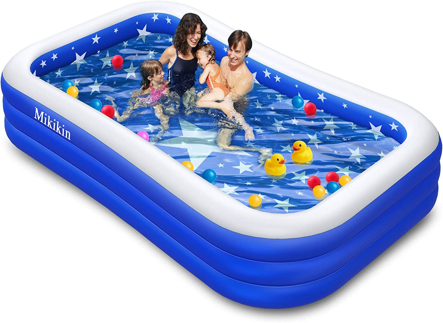 Inflatable Family Swimming Pool, Inflatable Pool for Kiddie, Kids, Adults, Toddlers, Infant, 120