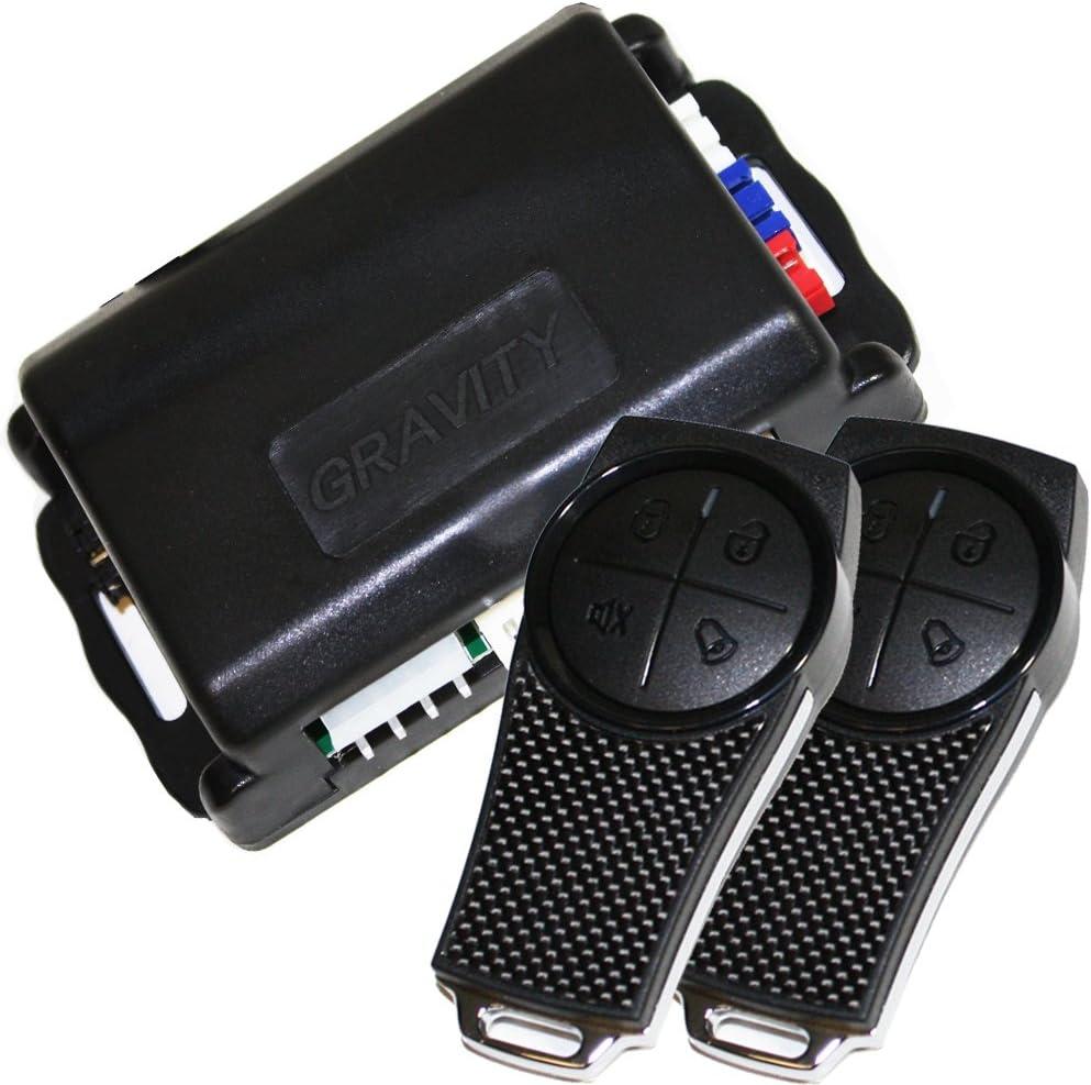 Gravity Car Alarm & Keyless Entry System w/External Shock Sensor G2SX