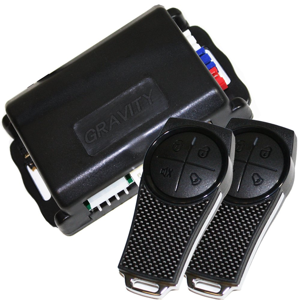 Gravity Car Alarm /& Keyless Entry System w//External Shock Sensor G2SX
