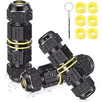 Kabelverbinders, waterdicht, IP68, 3-polig, verbindingsbox voor aardkabel met mini-schroevendraaier en 6 rubberen ringen…