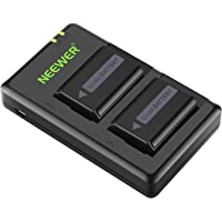 Neewer NP-FW50 Camera Battery Charger Set for Sony A7,A7SII,A7R,A7RII,A6000,A6500,A6300,A55,A5100,RX10 II (2-Pack…