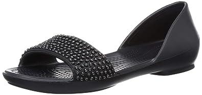 stort urval av special för sko klassiska stilar Buy crocs Women's Black Ballet Flats-7 UK (W9) (204361-060) at ...