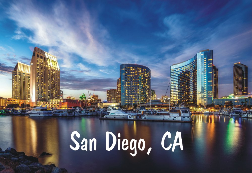 San Diego, California, City, Skyline, CA, Souvenir Magnet 2 x 3 Fridge Magnet