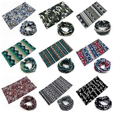 LucaSng 9 unidades/pack multifunción pañuelo Pañuelo para la ...