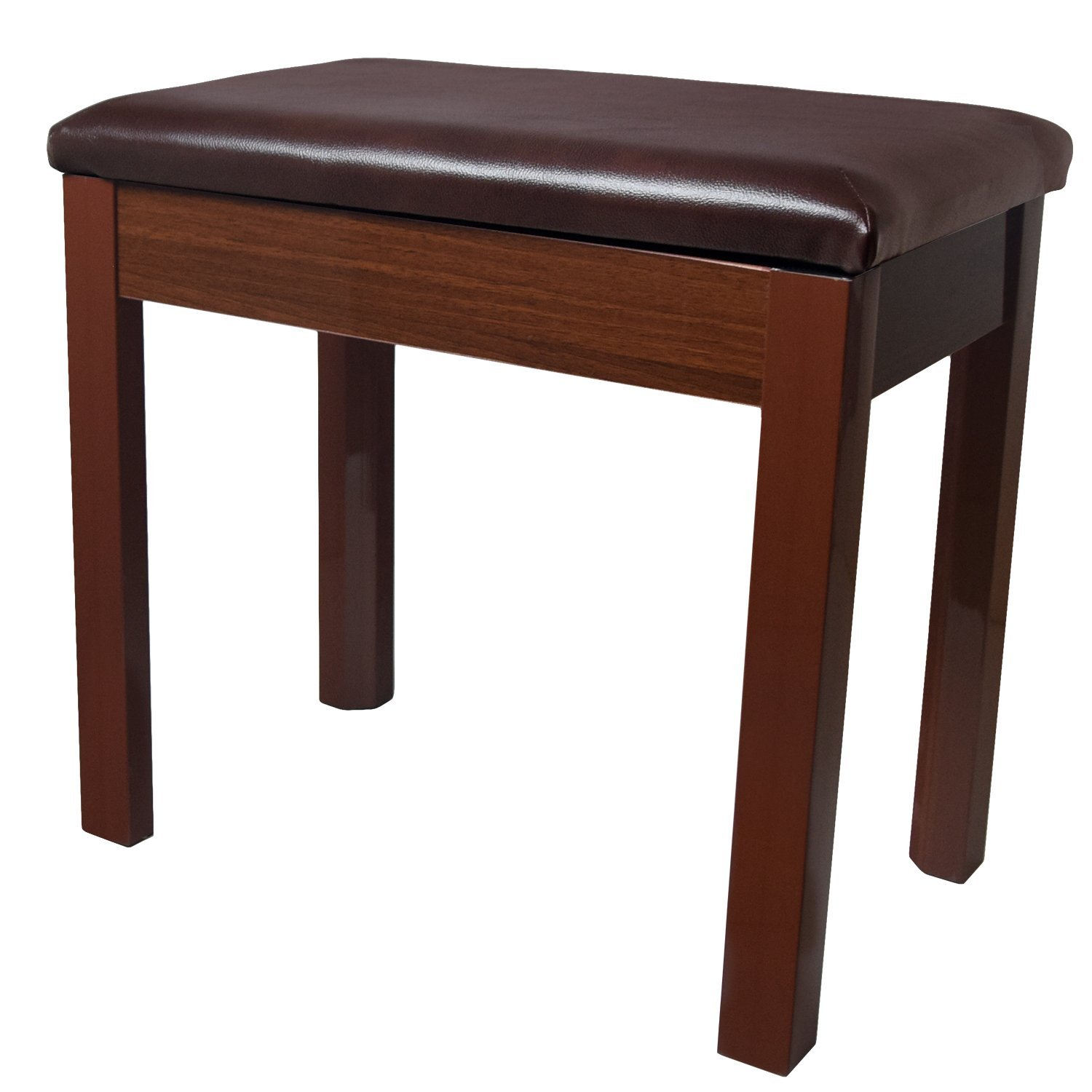 ChromaCast Padded Wooden Piano Bench, Walnut CC-WBENCH-WAL