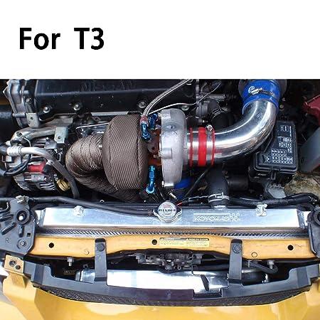 ledaut T3 Turbo Manta Fibra De Vidrio Turbocompresor Cubierta Wrap calor Shield Wrap Usado para coche Turbos: Amazon.es: Coche y moto